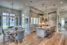 Beautiful kitchen in a beach house in Watercolor FL