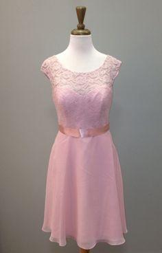 Beautiful Primrose lace and chiffon short dress. Style # 00696 thebrideandgroomms.com