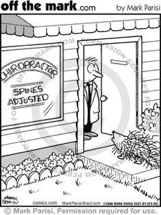 chiropractic cartoons  www.youllfeelbetter.com