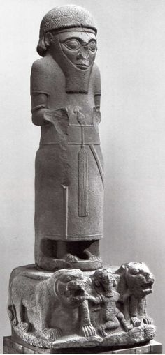 Hittite, on the lion king , Sam-al Zincirli, 850-800 BC, Museum of Oriental Antiquities, İstanbul