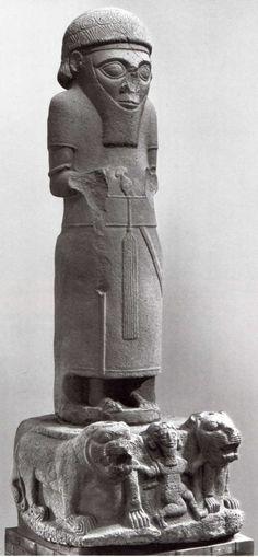 Hittite, on the lion king , Sam-al Zincirli, 850-800 BC, Museum of Oriental Antiquities, İstanbul
