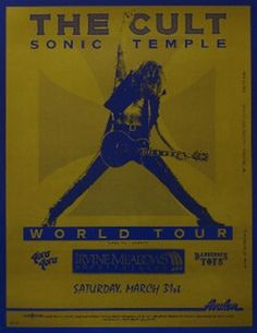The Cult - Sonic Temple Tour '89