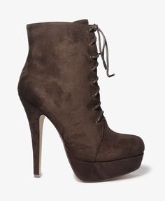 Forever21 Lace Up Stiletto Boots  $29.80