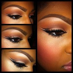 Beautiful makeup for dark skin!