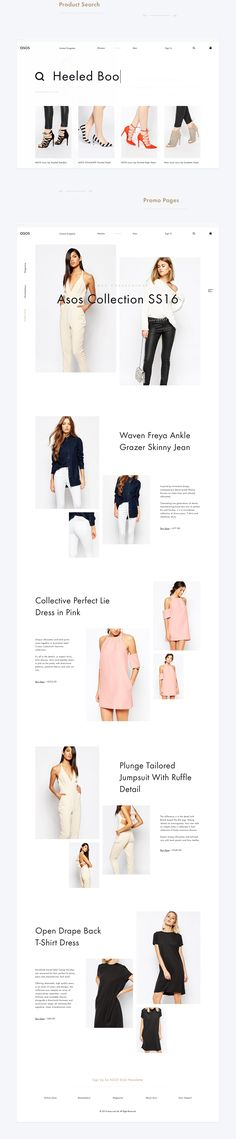 Asos Online Store Redesign & Rethinking Concept