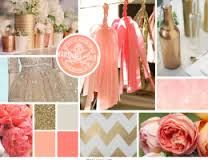 coral gold and mint wedding invite - Google Search