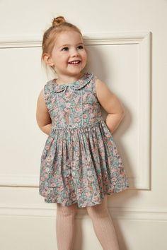 d2130e33b906 Girls Next Pink Shirred Collar Dress (3mths-7yrs) - Pink | Older ...