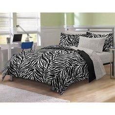 CHF Zebra Mini Bed in a Bag - Black and White - 2A745201WT #ZebraPrintBedding