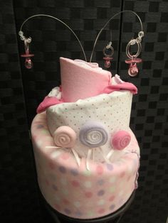 Diaper Cake For Baby Shower  3 Tier by BkBabies on Etsy- so cute!