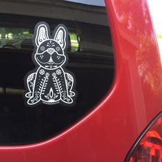 Hey, I found this really awesome Etsy listing at https://www.etsy.com/listing/237425139/french-bulldog-decal-sugar-skull