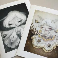 Yay!! New prints released on my Etsy shop💖 Moth... - YiShu Wang