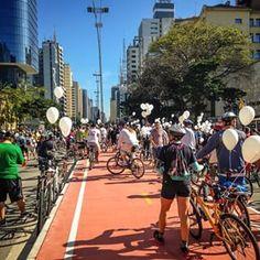 A ciclovia da Avenida Paulista foi inaugurada na manhã deste domingo. | 33 imagens adoráveis da inauguração da ciclovia na Avenida Paulista