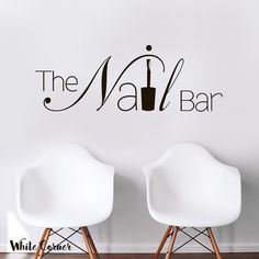Excited to share the latest addition to my shop: The Nail Bar Nail Hair Salon Pedicure Manicure Nail Salon Hairdresser Girls Gift Office Wall Decal Vinyl Decor Sticker Bedroom Nail Salon Names, Home Nail Salon, Nail Salon Design, Nail Salon Decor, Beauty Salon Decor, Salon Interior Design, Privates Nagelstudio, Vinyl Dekor, Nail Saloon