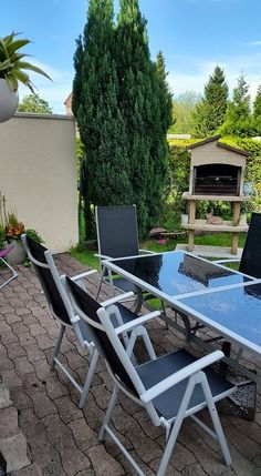 La Baule : table de jardin 8 places en granit et aluminium http ...