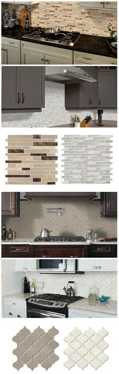 The mosaic tile you choose can give your kitchen so many different looks. The glass and metal tile you see at the top creates a bold, eye-catching effect in the backsplash. Below, the arabesque pattern has a timeless look that's subtle and elegant. Click through to browse The Home Depot's huge selection of on-trend mosaic tiles, and imagine what your kitchen could look like.