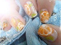 Orange garden | Nail Art