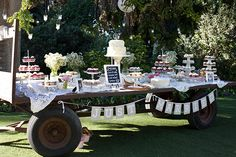 Dessert Table This is cute!