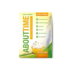 About Time Whey Protein Isolate – Birthday Cake Single Serving – 1 oz – Case of 12