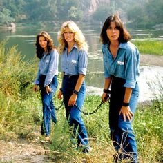 The most fashionable chain gang ever - Charlie's Angles 1977.