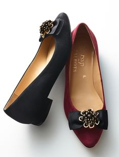 Shop Talbots for modern classic women's styles. You'll be a standout in our Edison Bow & Jewel Suede Flats - only at Talbots! Pretty Shoes, Beautiful Shoes, Cute Shoes, Me Too Shoes, Fall Shoes, Summer Shoes, New Shoes, Everyday Shoes, Suede Flats