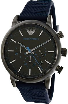 Price, Review, and Buy Emporio Armani Men's Black Dial Silicone Band Watch - AR11023 | Egypt | Souq