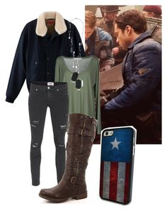 """Bucky Barnes - Casual"" by carolinelaufeyson ❤ liked on Polyvore featuring jucca and Paige Denim"