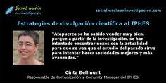 Charla con Cinta Bellmunt sobre las estrategias de #DivulgaciónCientífica al IPHES.
