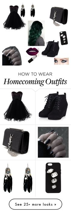 """Random #16"" by emo-lover-clx on Polyvore featuring Yves Saint Laurent, STELLA McCARTNEY, women's clothing, women, female, woman, misses and juniors"