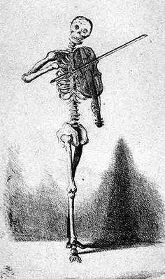 Death plays violin.