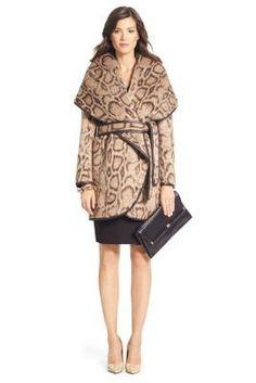 Bergan Leopard Wrap Coat