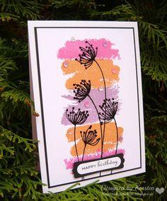 Kersten's Kreativkiste: Geburtstagskarte mit fix gemachtem Hintergrund