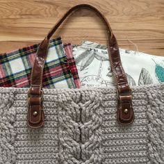 Free Crochet Pattern for the Matilda Tote - Crochet Cables Bag — Megmade with Love Crochet Cable, Free Crochet, Crochet Bags, Crochet Purses, Baby Moccasin Pattern, Yarn Sizes, Old Shirts, Baby Moccasins, Single Crochet