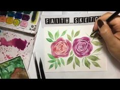 Easy Watercolor Rose - YouTube