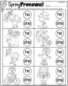 Resultado de imagen para he she it worksheet for kindergarten