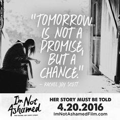 I'm Not Ashamed - The Rachel Joy Scott Columbine Story - I'm Not Ashamed