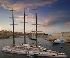 Explorer Yacht, Expedition Yachts, Curved Walls, Yacht Design, Sail Away, Super Yachts, Aircraft Carrier, Sailing Ships, Sailing Yachts