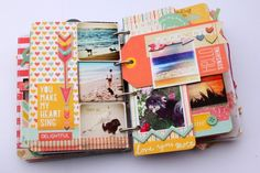 A way to scrapbook; but I think I could DIY something similar for all of my old cards and letters that are sentimental! I like the eclectic book feel of misc sentiments