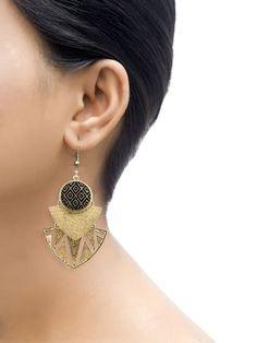 Three Layered Mayan Drop Earrings | Only on saliyamohit.wooplr.com | Best Earrings Online