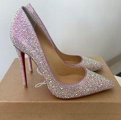 Christian louboutin swarovski crystal strass so kate heels shoes. Swarovski, Pumps Heels, Stiletto Heels, Mode Shoes, Christian Louboutin So Kate, Wedding Heels, Black High Heels, Black Boots, Fashion Heels