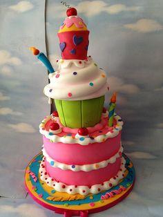Whimsy birthday cake