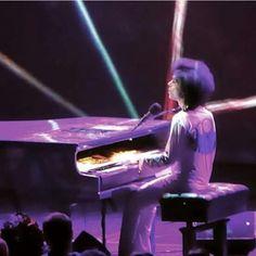Prince n purple light.