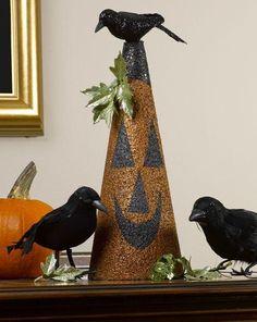 DIY Halloween Crafts : DIY Paint a Glitter Blast pumpkin & seven more pumpkin crafts