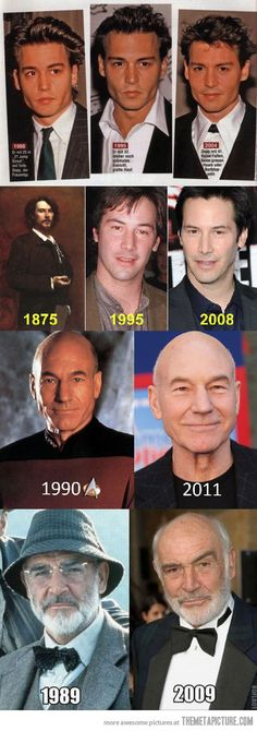 Actors who don't age…way cool