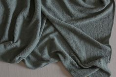 Perch & Parrow   Charlotte Throw in mint Green