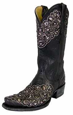 "Yippee Ki Yay by Old Gringo Women's Freesia 12"" Black Leather Western Cowboy Boots (9.5) Yippee Kay Yay by Old Gringo http://www.amazon.com/dp/B014IA7K1O/ref=cm_sw_r_pi_dp_4nlwwb1WD6EQE"