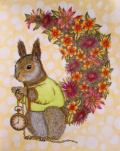 Photo. My coloring book. #sommarnatt #hannakarlzon #squirrel