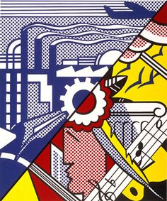Industry and the Arts (II), 1969 - Roy Lichtenstein - Screenprint on C. M. Fabriano 100/100 Cotone paper, 26 1/16 x 19 1/16 inches, 66.2 x 48.4 cm