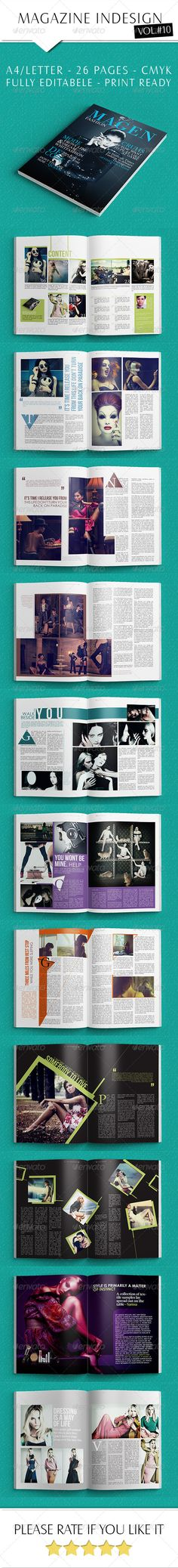 Indesign Fashion Magazine — InDesign INDD #gray #layout • Available here → https://graphicriver.net/item/indesign-fashion-magazine/6504061?ref=pxcr