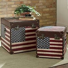 American your trunls use as end tables