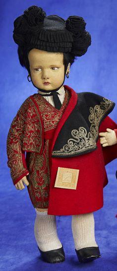 Italian Felt Character, 300 Series, Spanish Boy by Lenci 1200/1800 Auctions Online | Proxibid